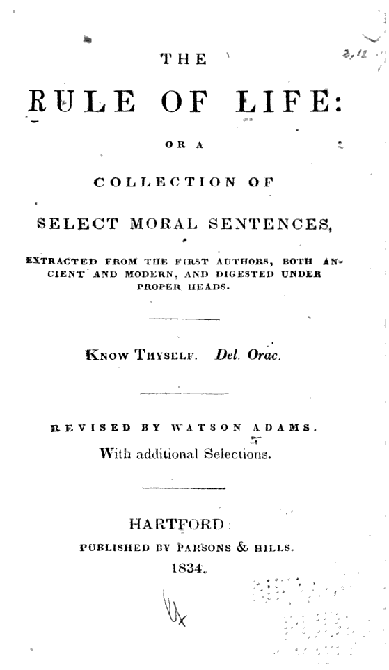 the-rule-of-life-title-page